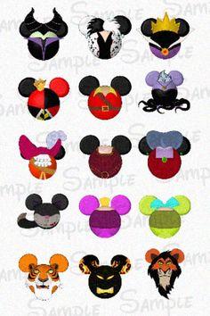 "Villainous character inspired DIGITAL Bottle Cap Mouse head image sheet 4x6 1"" inch  DIY"