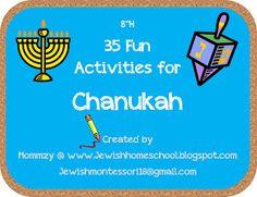 35 Fun Montessori Inspired Activities for Chanukah!