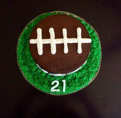 Football themed Happy Birthday Cake