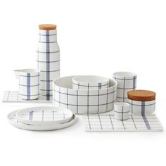 Normann Copenhagen presents the Mormor / Grandma series designed by Gry Fager. Modern ceramics for the dining table, the design is inspired. Ceramic Tableware, Ceramic Cups, Kitchenware, Blue Cups, Blue Bowl, Norman Copenhagen, Copenhagen Design, Copenhagen Denmark, Ecole Design