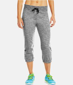 "SportsWear Technology Explained: NEW UNDER ARMOUR WOMENS UA CHARGED COTTON STORM MARBLE 21"" CAPRI SWEAT PANTS"