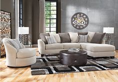 Shop for a Meridian Springs Beige   3 Pc Sectional Living Room at Rooms To Go. Find Living Room Sets that will look great in your home and complement the rest of your furniture. #iSofa #roomstogo
