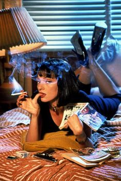 """Uma Thurman as Mia Wallace"" from Quentin Tarantino' Pulp Fiction, 1994"