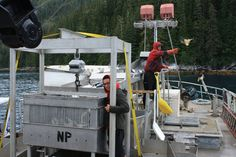 Packing salmon in Prince William Sound, 2014.  Photo by Rubye Foldager. www.seafoodapparel.com
