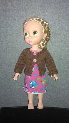 Knitted cardigan pattern - disney animator doll