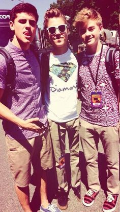 Jack Gilinsky, Matthew Espinosa, and Jack Johnson at Digifest.