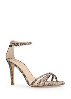 Sandales cuir serpent