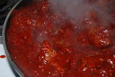 Carne con chile colorado (Beef in red   chile sauce)