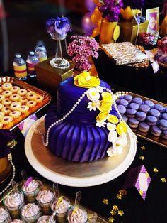 gold and purple themed #dessert #cake #wedding