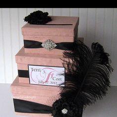 Three tier wedding card holder box!