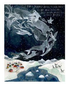 The Long Arctic Night 16 x 20 Inch Archival Inkjet (Giclée) Print / Diana Sudyka