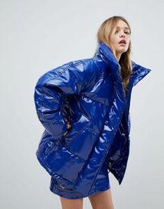 Блестящая дутая куртка Monki