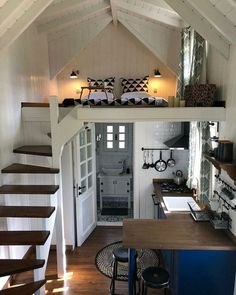 Tiny House Nation, Cabin In The Woods, Tiny House Movement, House Blueprints, Tiny House Living, Living Room, Tiny House Plans, Tiny House Design, Furniture For Small Spaces