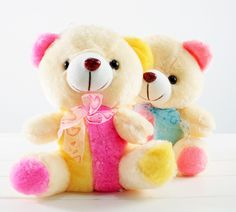 "New 11"" Colorful Glowing Teddy Bear for Girls Birthday or any Day Gift"