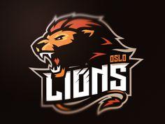 Behance :: oslo lion by mateusz putylo esport logos логотип, спортивные лог Team Logo Design, Mascot Design, Business Logo Design, Creative Business, Leon Logo, Lion Design, Esports Logo, Sports Team Logos, Animal Logo