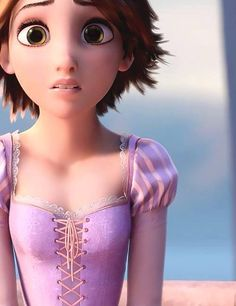 Rapunzel: the first princess to have brown hair and green eyes.
