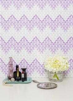 Kimberly Lewis Home Handprinted Wallpaper  $155 eco friendly, vinyl free, waterbased inks, made in usa