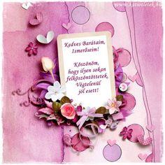 (95) Köszönöm Birthday Wishes, Birthday Cards, Happy Birthday, Thank You Images, As You Like, December, Inspirational Quotes, Easter, Frame