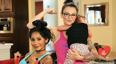 Our Baby Boot Camp instructors are happy to jump in and hold your little one so you can finish your workout!      Check out this Go90 #MomsWithAttitude episode with Snooki & JWOWW, guest starring our very own Dena Farash!