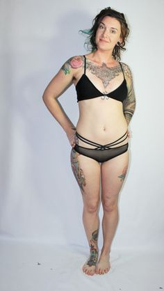 a783bd619c Custom Black Sheer Mesh Strappy Hipster Panties by OrigamiCustoms Mesh