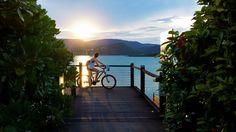Airlie Beach boardwalk at sunset - Whtisundays, Australia