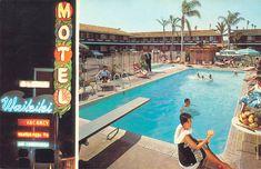 Waikiki Motel, Anaheim, CA, 1960s.