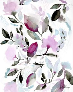 I love the movement and colors of this abstract floral. One of my favorite pieces! Printed on beautiful matte archival paper using archival inks. Every fine art