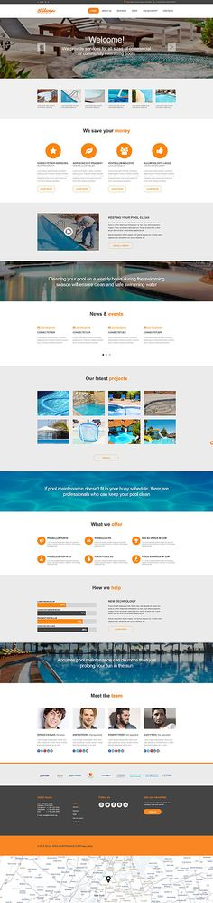 Pool Maintenance Company Site #Muse #template. #themes #business #webtemplates