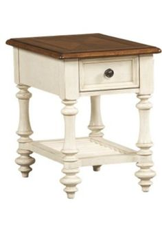 Living Rooms, Southport Chairside Table - Distressed White, Living Rooms | Havertys Furniture $219.00