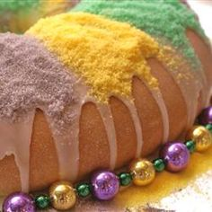 Three Kings Cake for Epiphany Sunday. Hide 3 babies inside. The 3 people who get a baby, then wear a crown at the party, representing the three kings.  http://m.allrecipes.com/recipe/22693/recipeking-cake