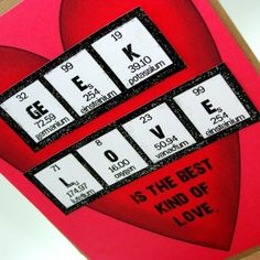 Geek Love Valentine Card by ShopGibberish on Etsy