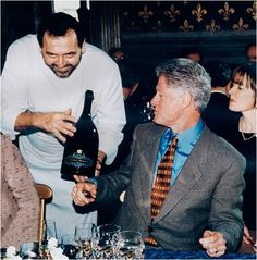 President Bill Clinton enjoying the Anna Maria Clementi from Ca' del Bosco.
