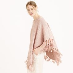 Ryan Roche™ for J.Crew fringe poncho : Pullovers | J.Crew