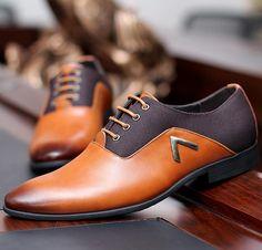 Tamaño 38 44 nuevo Mens zapatos Oxford 2015 cuero de la PU sólida negro marrón amarillo oficina del vestido de primavera / otoño para hombre zapatos de los planos en Pisos para hombres de Calzado en AliExpress.com | Alibaba Group