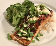 Sweet Chili and Soy Glazed Salmon with Sriracha Drizzle
