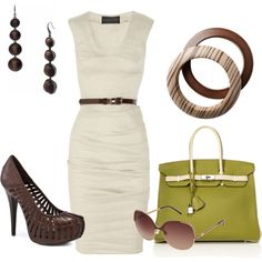 Linen Dress, created by ttalley001 on Polyvore