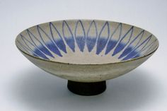 footed bowl: Thomas Toft Danish Studio Pottery, Mid Century Art Ceramics