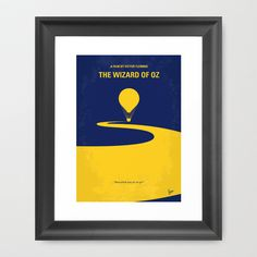 No177 My Wizard of Oz minimal movie poster Framed Art Print by Chungkong