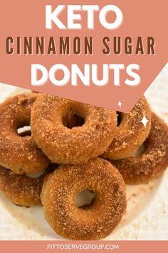 Keto Donuts, Healthy Donuts, Gluten Free Donuts, Gluten Free Desserts, Mini Donuts, Doughnuts, Healthy Snacks, Diabetic Desserts, Diabetic Recipes