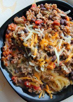 Southwest Spaghetti Squash Casserole. So tasty. So healthy!