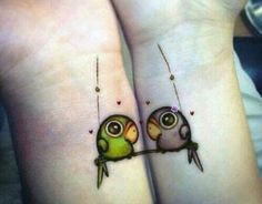 20 Matching Couple Tattoos For Lovers That Will Grow Old Together Best Couple Tattoos, Tattoos Skull, Best Friend Tattoos, Sister Tattoos, Love Tattoos, Unique Tattoos, Beautiful Tattoos, Body Art Tattoos, Small Tattoos