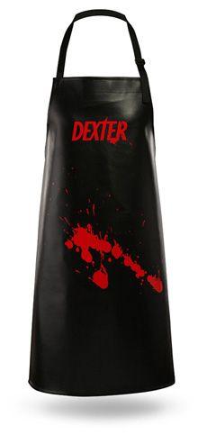 Delantal Dexter Vinilo Negro