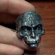 Details about Buddha Skulls Mask Solid Silver 925 Rings Mandala RockTibetan Vintage Retro Gift Skull Jewelry, Gothic Jewelry, Retro Vintage, Tibetan Jewelry, Badass, Jewelry Stores, Jewellery Sale, Fashion Jewellery, Gold Jewellery