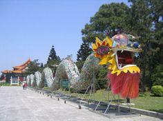dragon made of bottles