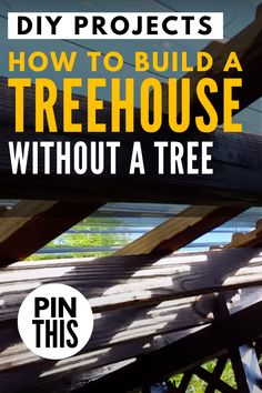 How to Build a Treehouse Without a Tree – Simple Video Tutorial - The Saw Guy Woodworking Projects For Kids, Diy Projects For Kids, Backyard Projects, Arts And Crafts Projects, Diy Woodworking, Home Projects, Building A Treehouse, Cool Tree Houses, Handmade Wooden Toys
