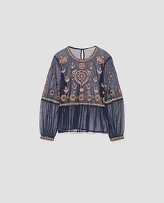 EMBROIDERED TULLE BLOUSE-NEW IN-WOMAN | ZARA Romania