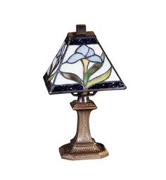 Shop for Antique Brass Blue Blossom Irene Mini Hand Crafted Glass Accent Lamp. Get free delivery On EVERYTHING* Overstock - Your Online Lamps & Lamp Shades Store! Unique Table Lamps, Lamps For Sale, Lamp Shade Store, Tiffany Glass, Brass Lamp, Home Room Design, Bedroom Lamps, Incandescent Bulbs, Lamp Design