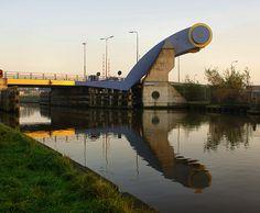 Slauerhoff Draw Bridge in Leeuwarden, Netherlands
