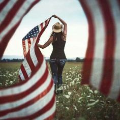 Image uploaded by Dee. Find images and videos about usa, america and country on We Heart It - the app to get lost in what you love. American Pride, American Women, American Flag, American Girl, Flag Photoshoot, 11 September 2001, We Heart It, I Love America, Awesome America