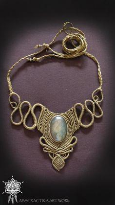 Viktorianischen Steampunk Makramee Halskette von AbstractikaCrafts